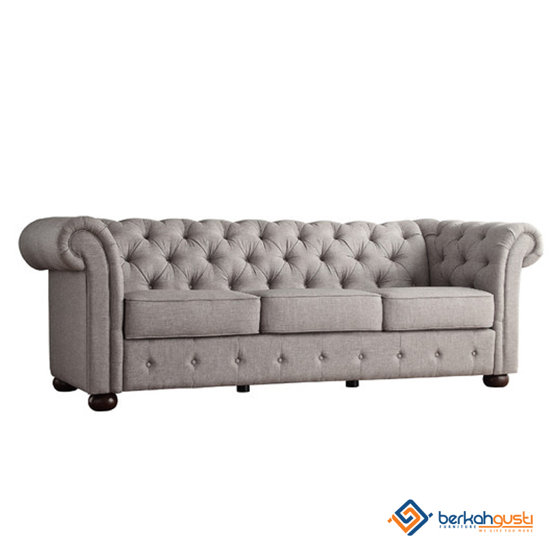 Sofa - Custom Grey 3 Seater